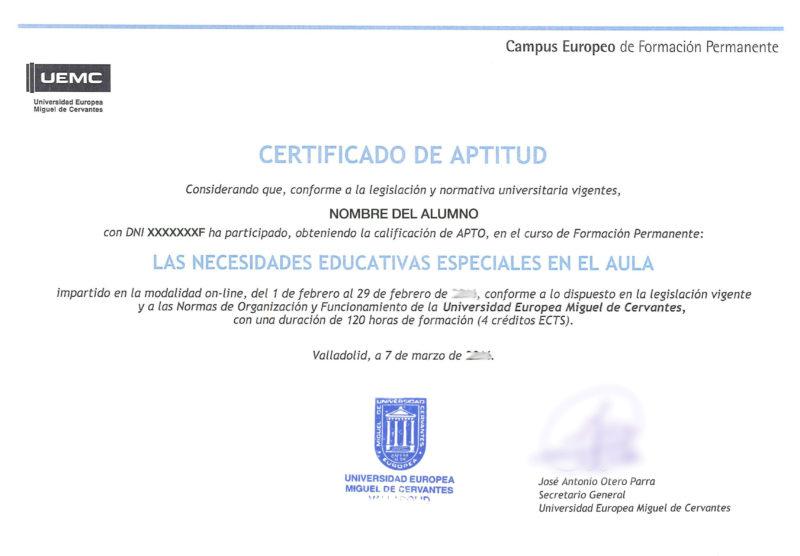 Certificado UEMC